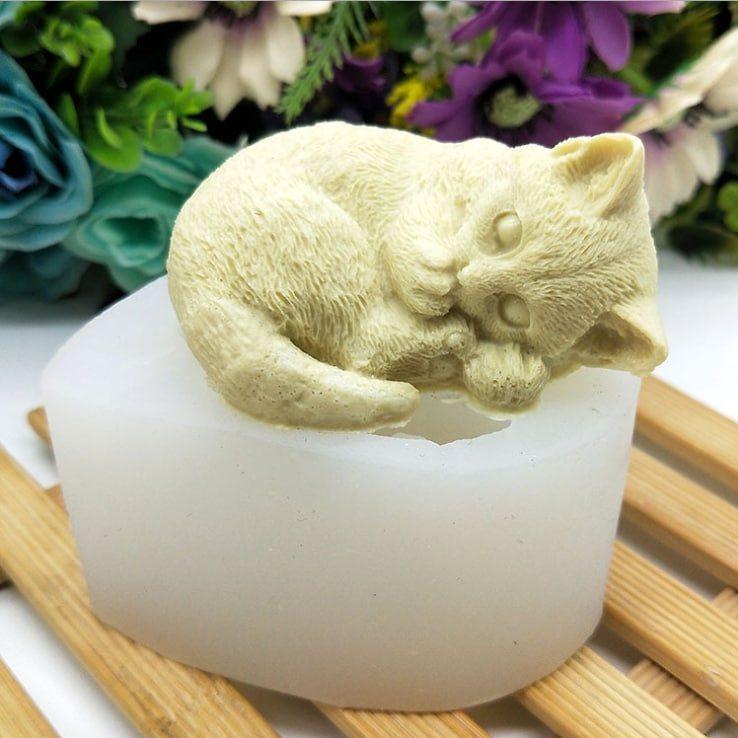 Молд силиконовый 3Д Кот