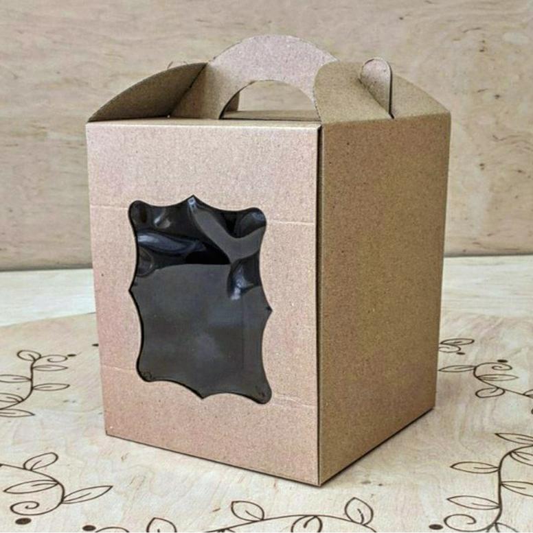 Коробка для паски 170х170х210 Крафт