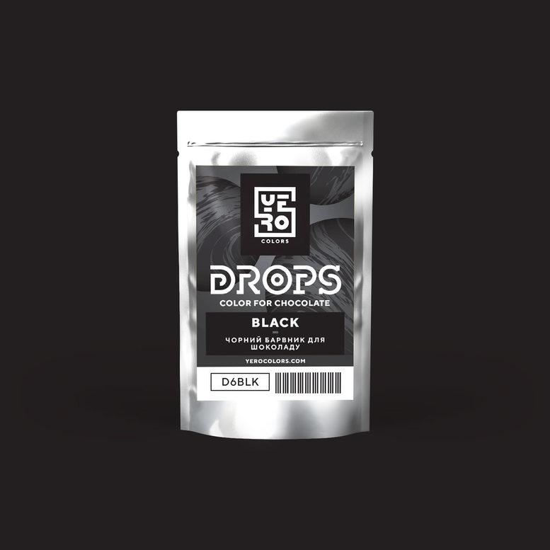 Барвник для шоколаду (дропси) Чорний 6г, YERO colors