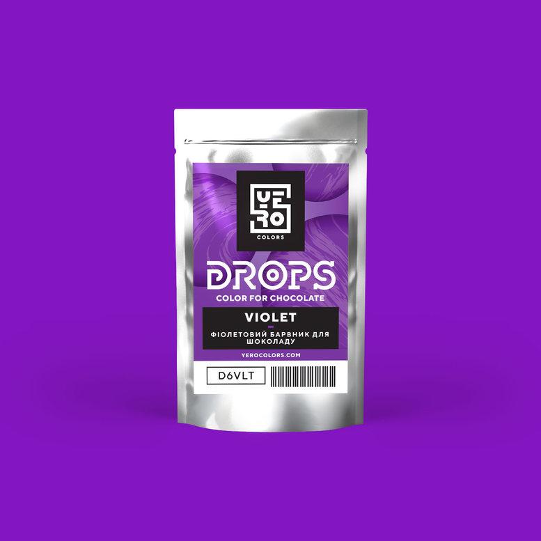 Барвник для шоколаду (дропси) Фіолетовий  6г, YERO colors