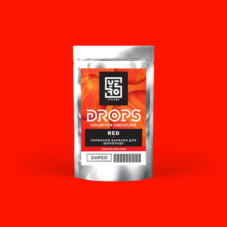 Барвник для шоколаду (дропси) Червоний 6г, YERO colors