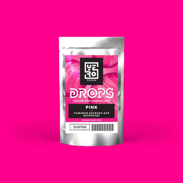 Барвник для шоколаду (дропси) Рожевий 6г, YERO colors