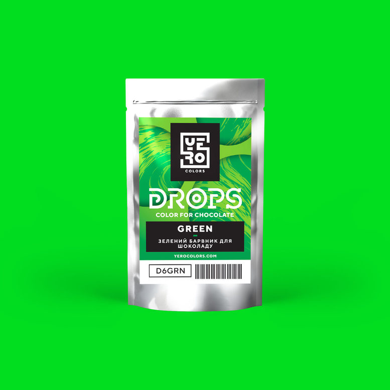 Барвник для шоколаду (дропси) Зелений 6г, YERO colors