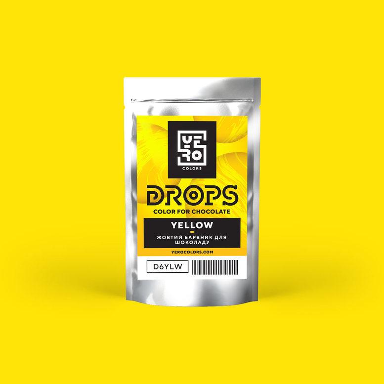 Барвник для шоколаду (дропси) Жовтий 6г, YERO colors