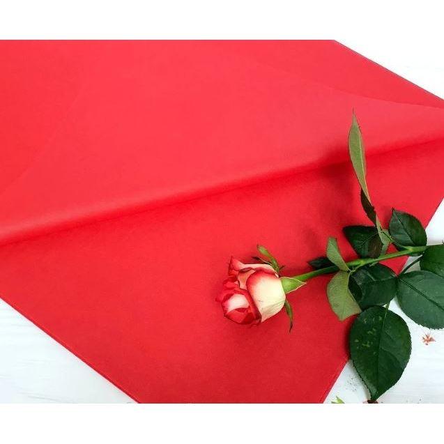 Бумага Тишью 50х75см Красная