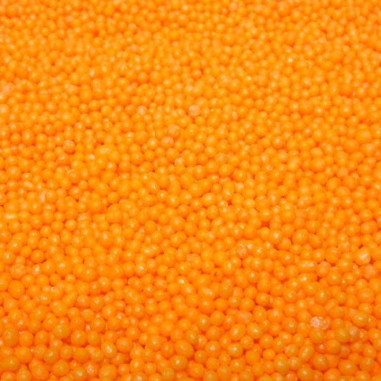 Посипка кругла оранжева, 1мм,  50г, ТМ Slado