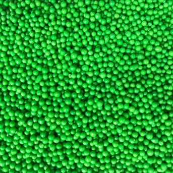 Посипка кругла зелена, 1мм,  50г, ТМ Slado