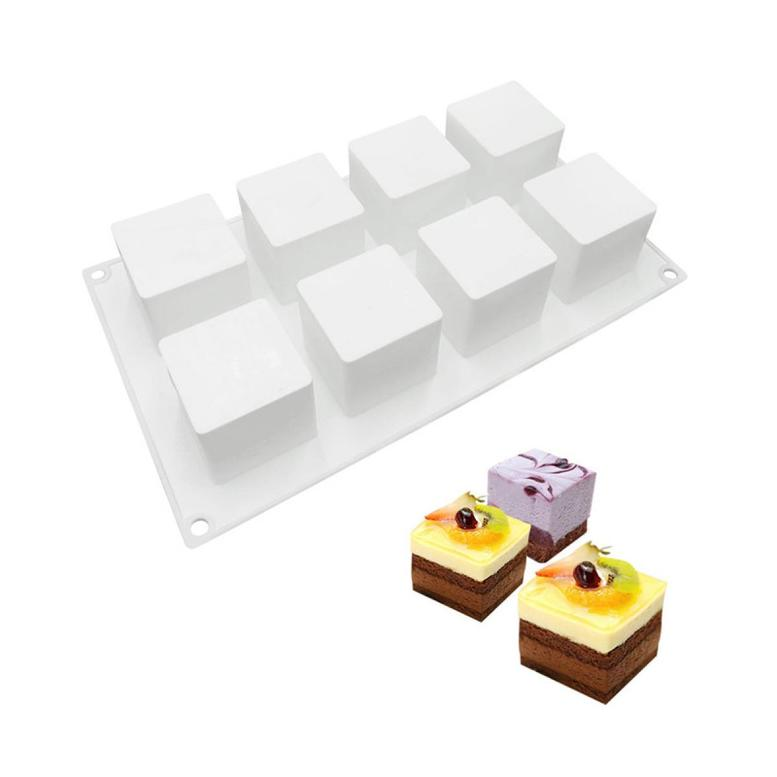 """Силиконовая форма """"Куб"""" на планшете, 8 шт (5х5 см)"""