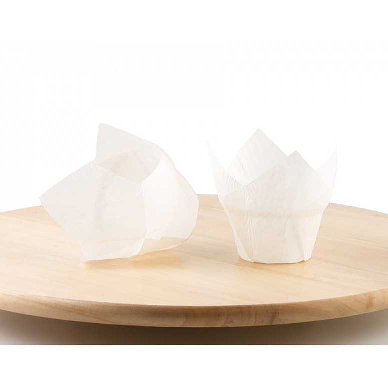 Паперова форма для кексів ЛОТОС біла, 1шт