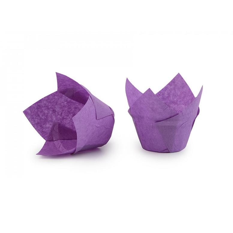 Паперова форма для кексів ЛОТОС фіолетова, 1шт