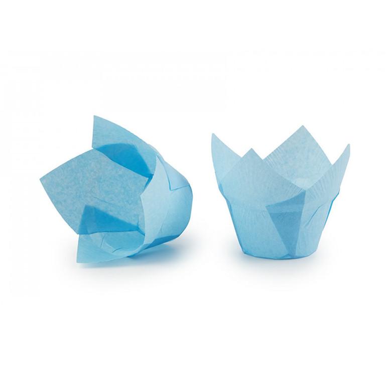 Паперова форма для кексів ЛОТОС блакитна, 1шт