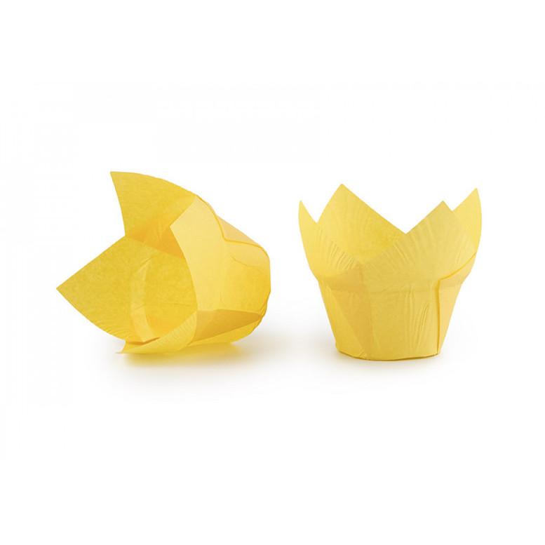 Паперова форма для кексів ЛОТОС жовта, 1шт