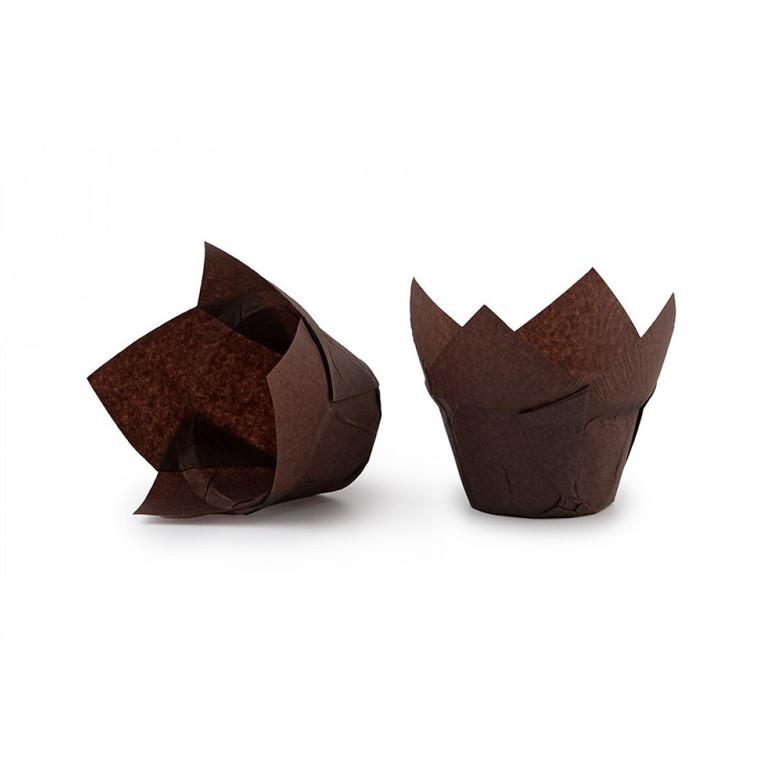 Паперова форма для кексів ЛОТОС коричнева, 1шт