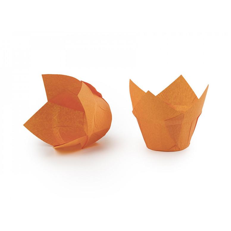 Паперова форма для кексів ЛОТОС помаранчева, 1шт