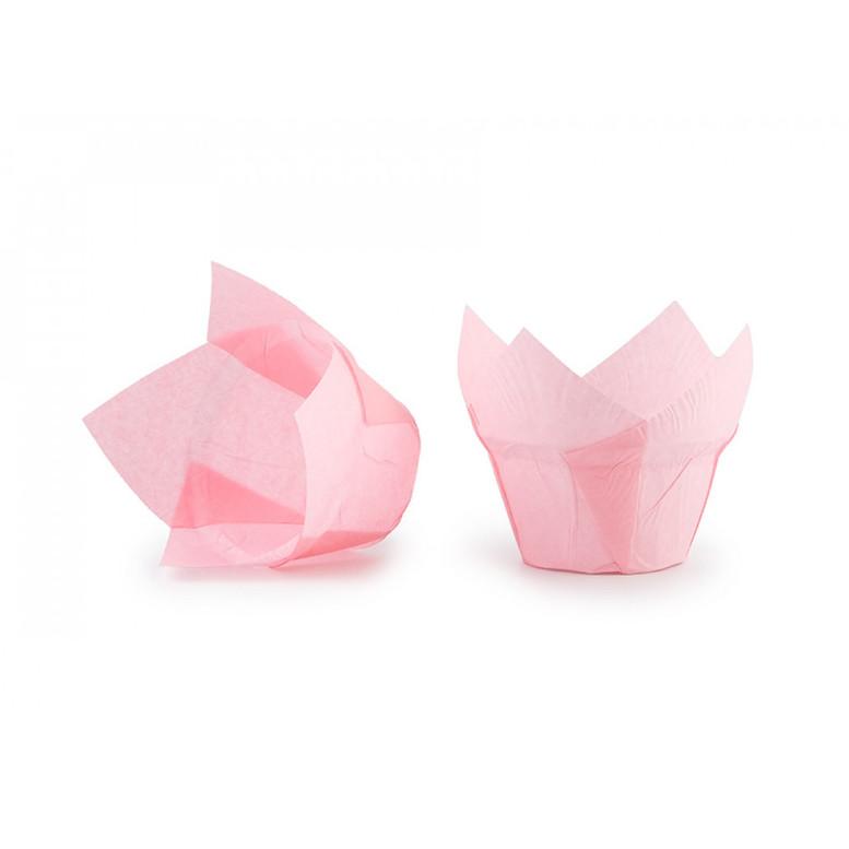 Паперова форма для кексів ЛОТОС світло-рожева, 1шт
