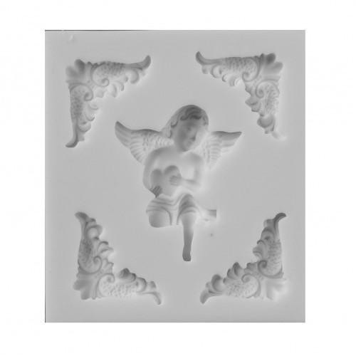 Молд силиконовый Ангел и вензеля