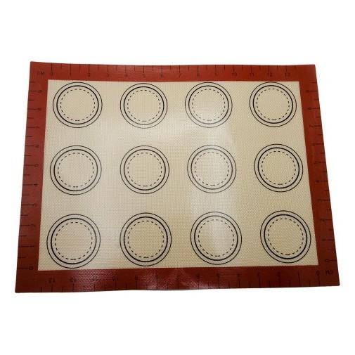 Коврик для макаронс со стекловолокном и разметкой, 40х30 см