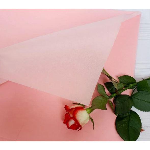 Бумага Тишью 50х75см Нежно-розовая