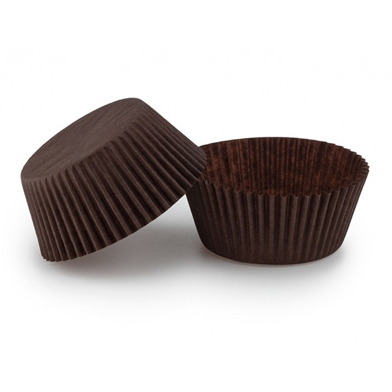 Паперова форма для кексів (55х42,5) коричнева, 18шт/уп