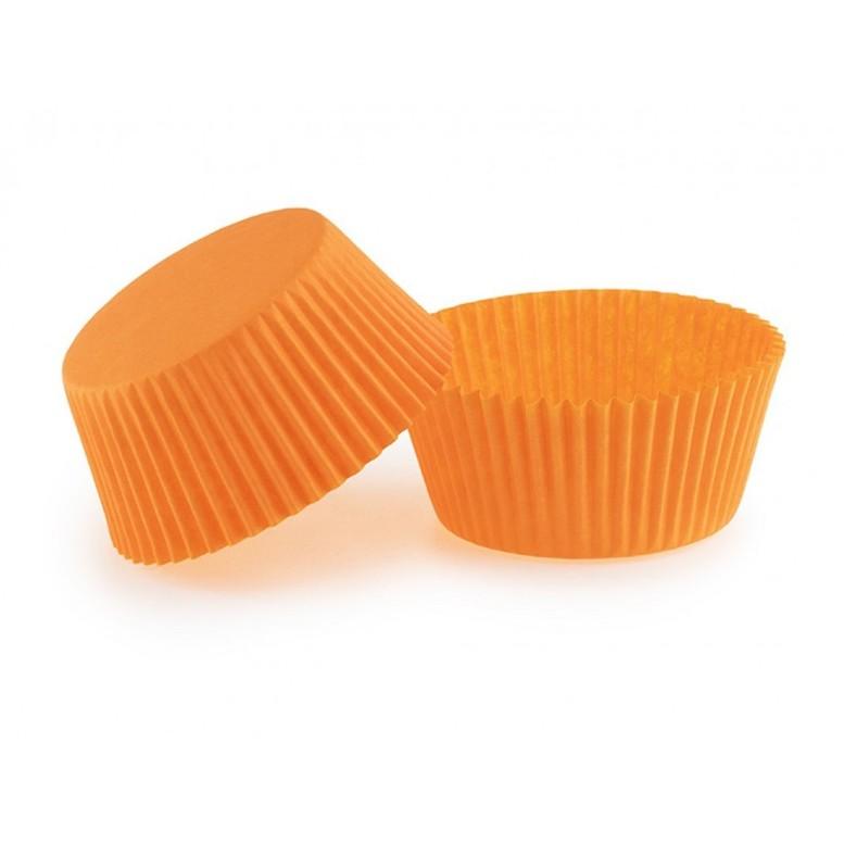 Паперова форма для кексів (55х42,5), помаранчева, 18шт/уп