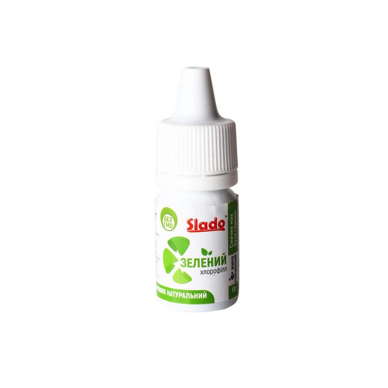 Краситель пищевой натуральный жирорастворимый Зеленый, 10г, Slado