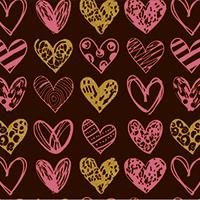 """""""Painted Hearts"""" трансфер, 5 листов"""