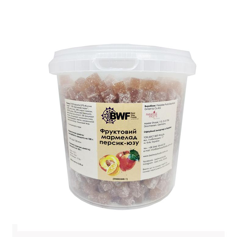 Фруктовий мармелад персик-юзу , 0,9 кг