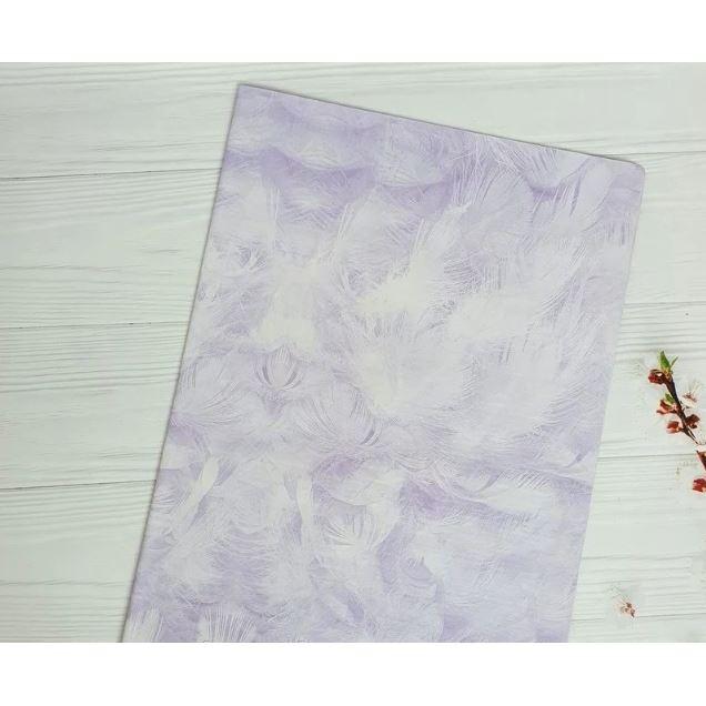 Бумага Тишью 50х70см Фиолетовая/Перышко