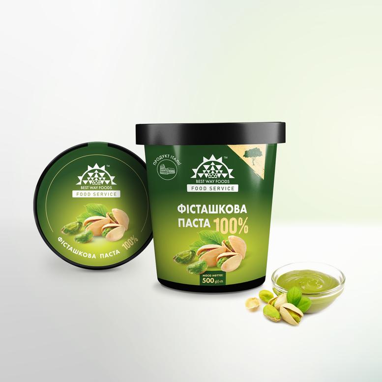 Фисташковая паста 100% натуральная, 500г, Италия, BWF
