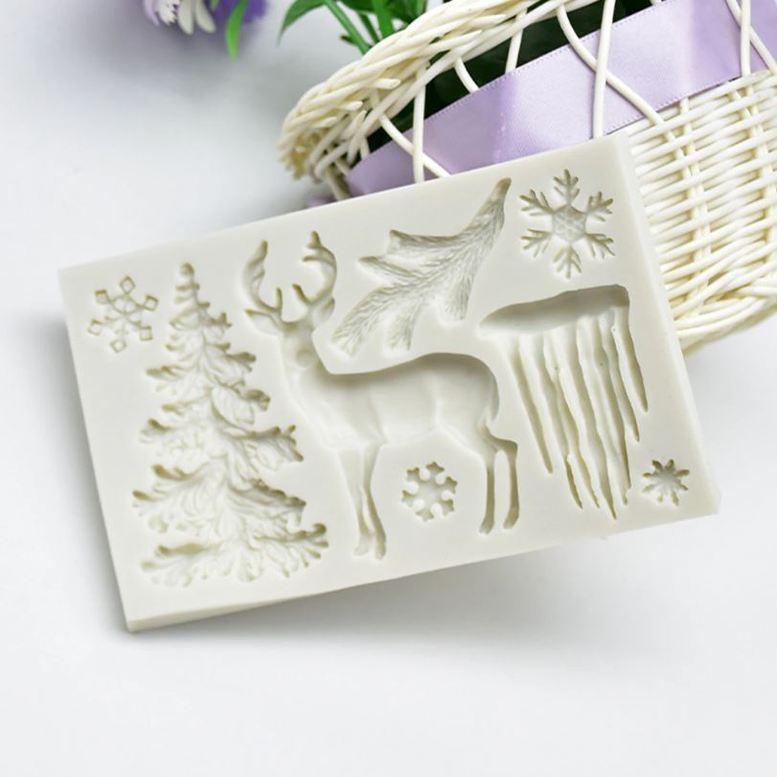 Молд силиконовый Рождественский Олень