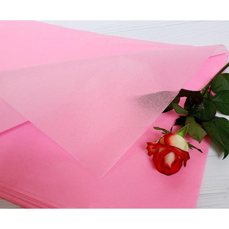 Бумага Тишью 50х75см Розовая