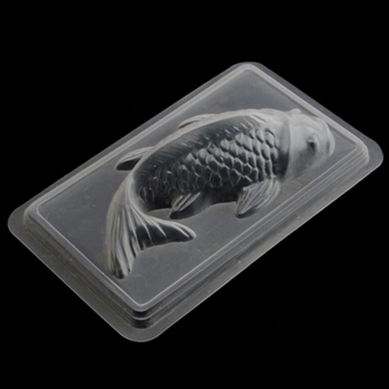 "Форма пластиковая ""Рыба"" для шоколада и желе, 23 см"
