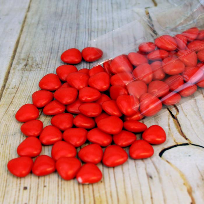 Драже з молочного шоколаду Червоні Серця, Amarischia, 100г