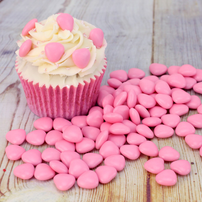 Драже з молочного шоколаду Рожеві Серця, Amarischia, 100г