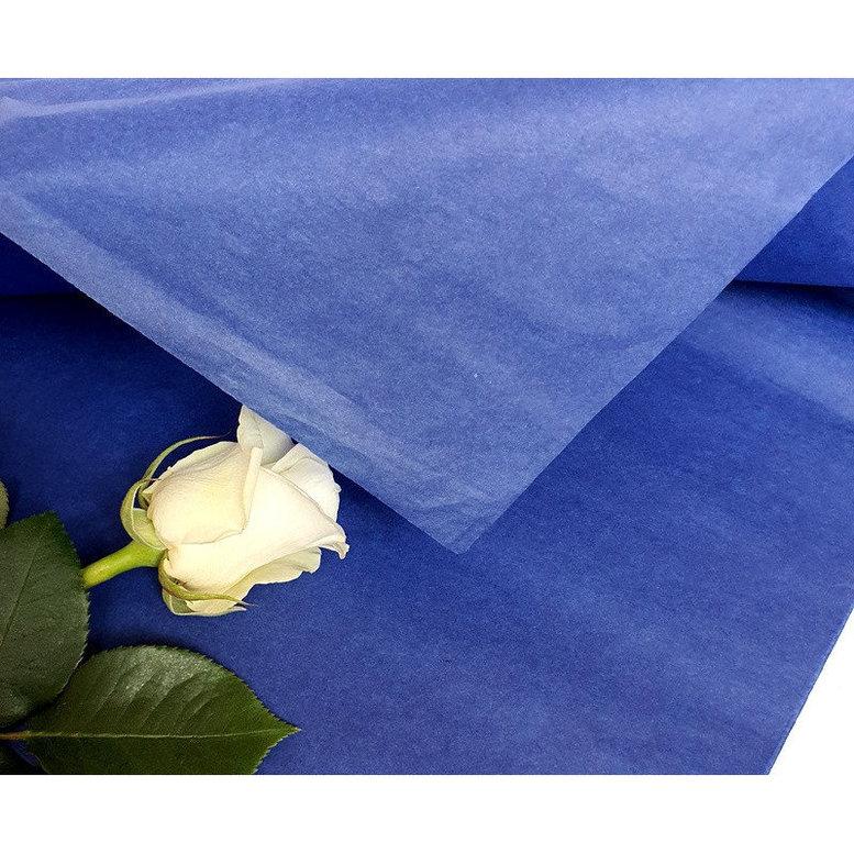 Бумага Тишью 50х75см Синяя