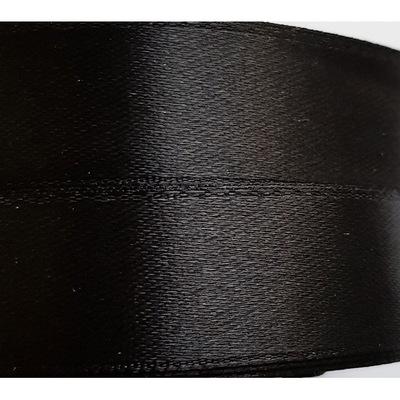 Лента атласная 2 см, моток 23 м, черная