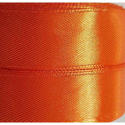 Лента атласная 2 см, моток 23 м, оранжевая