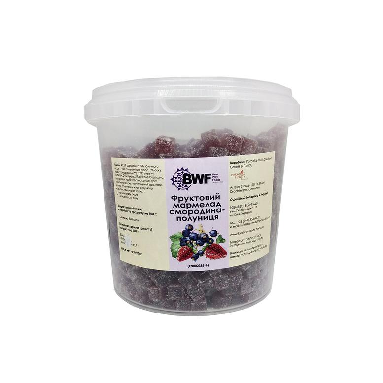 Фруктовий мармелад смородина-полуниця, 0,9 кг