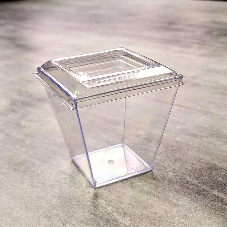 """Стаканчик для десерта """"Пирамида"""" с крышкой, 200мл"""