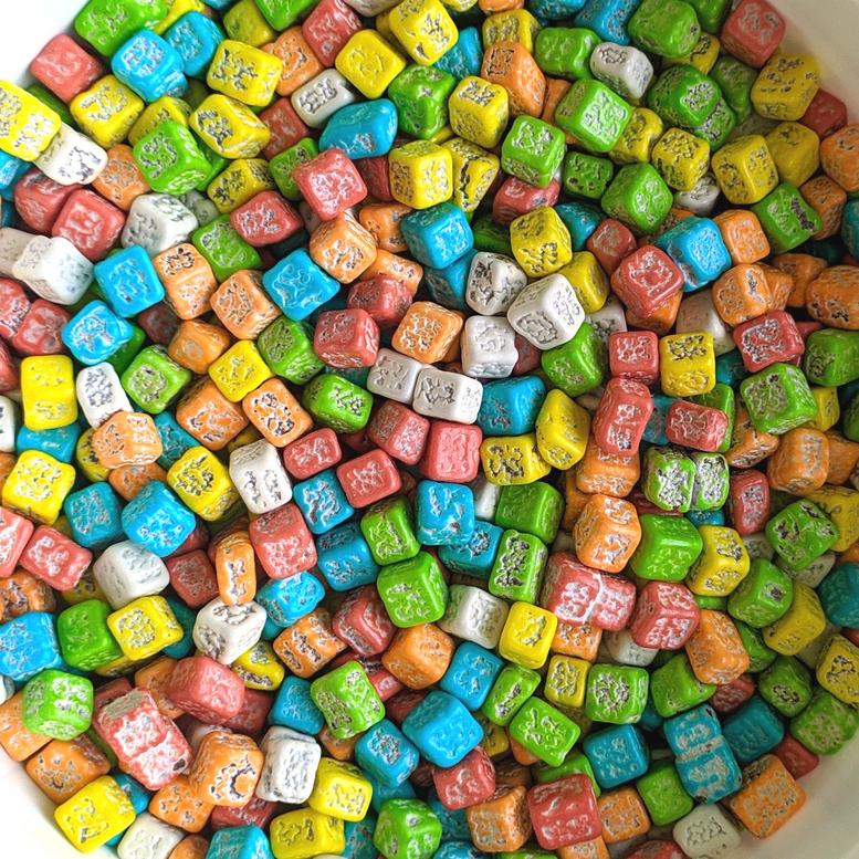 Декор шоколадний камінці кольорові Ovalette, 100г