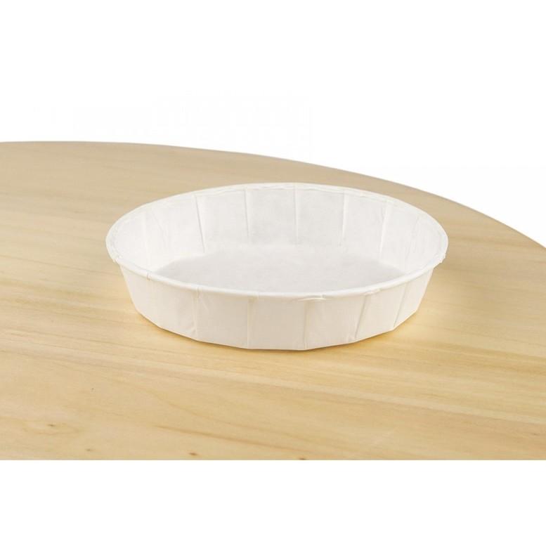 Біла форма для тартів з закрученим бортом, 90х20 мм