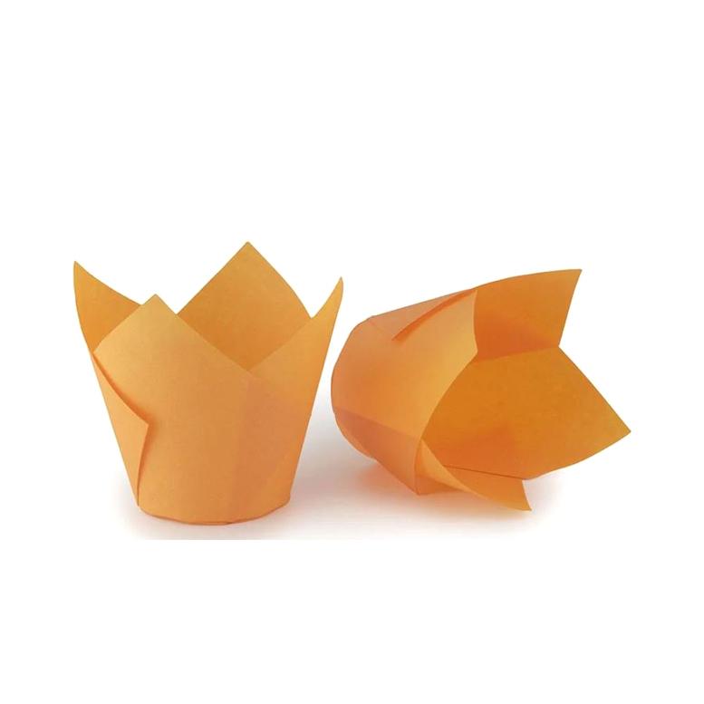 Паперова форма для кексів ТЮЛЬПАН помаранчева, 1шт