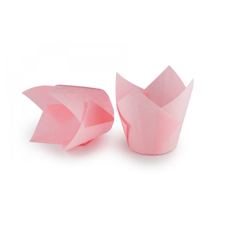Паперова форма для кексів ТЮЛЬПАН світло-рожева, 1шт