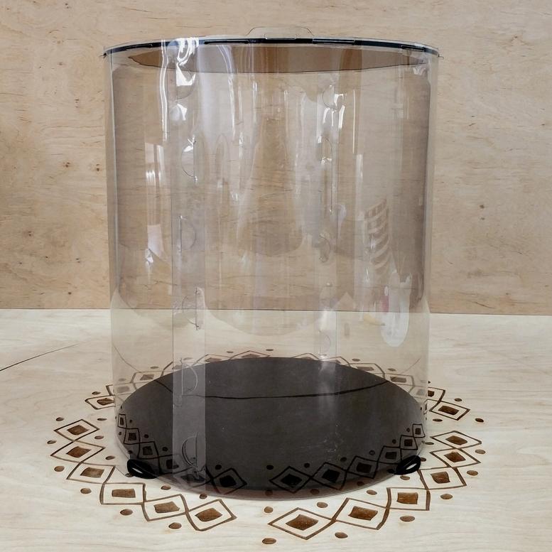Коробка для торта 300х300х350 (тубус) черная (1 шт.)