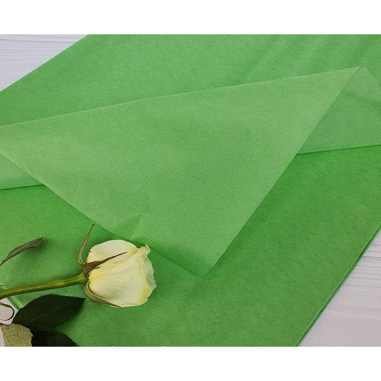 Бумага Тишью 50х75см Зелёное яблоко