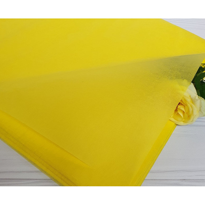 Бумага Тишью 50х75см Лимон