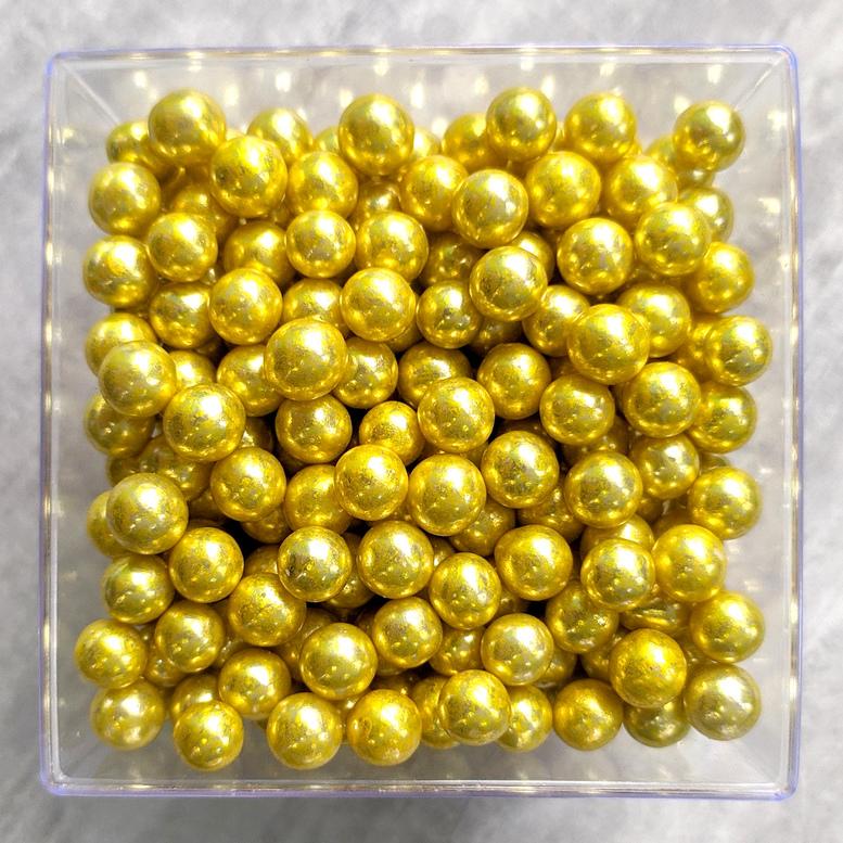 Цукрові кульки 7 мм золоті, Amarischia, 50г